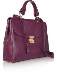 Marc Jacobs Texturedleather Shoulder Bag - Purple