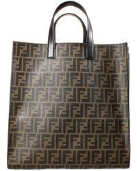 Fendi Handbag Zucca Pu Shopping Bag - Lyst