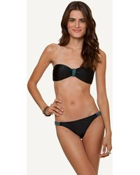 ViX Solid Black Bandeau Top black - Lyst
