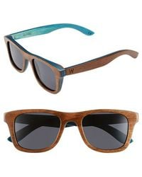 Woodzee - 'alpine' 48mm Polarized Wood Sunglasses - Lyst