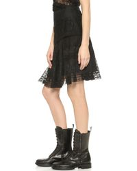 Nina Ricci Lace Skirt - Black - Lyst
