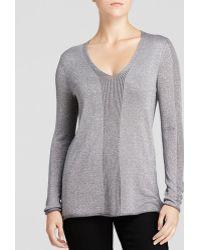 Nydj Metallic Knit Sweater - Lyst