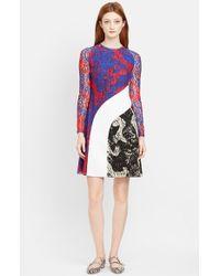 Carven Women'S Multicolor Wave Lace Dress - Lyst