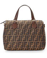 Fendi Zucca Top Handle Bag - Lyst