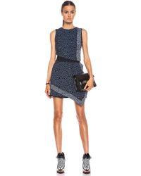 Proenza Schouler Stone Print Georgette Dress - Lyst