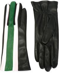 Christopher Kane Striped Gloves - Black