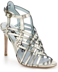 DANNIJO Dian Metallic Leather Sandals - Lyst
