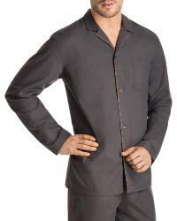 Hanro Woven Floral-trim Pajama Shirt - Lyst