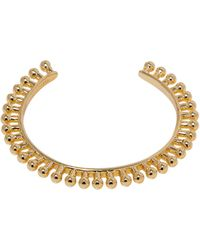 Giles & Brother Mini Thin Ball Cuff gold - Lyst