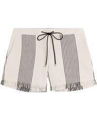 Derek Lam - Embroidered Cotton Blend Shorts - Multicolour - Lyst