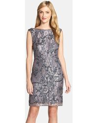 Fall Sheath Dresses With Jackets In Gray Sheath Dress gray Lyst