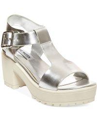 Steve Madden Women'S Stefano Block Heel Platform Sandals - Lyst