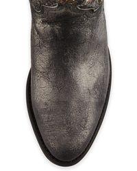 Frye Deborah Studded Vintage Leather Boot - Gray