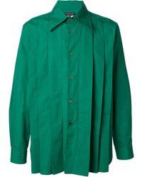 Comme Des Garçons Pleated Front Shirt - Lyst