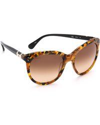 Diane von Furstenberg Riley Sunglasses - Black Tortoise - Lyst
