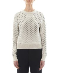 Sophie Hulme - Mirco Spotintarsia Cottonknit Sweater - Lyst