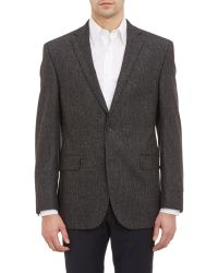 Barneys New York Tweed Two-Button Sportcoat gray - Lyst