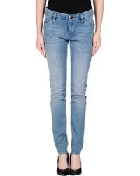 Lerock Blue Denim Trousers - Lyst