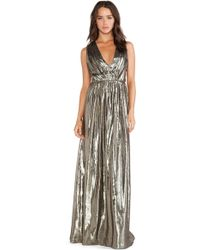 Alice + Olivia Issa Pleated Maxi Dress - Lyst