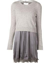 Clu Sweater Slip Dress - Lyst