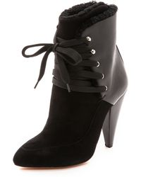 Iro Kimei Shearling Boots  Black - Lyst