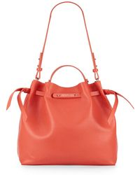 Kenneth Cole Reaction Faux Leather Bucket Bag orange - Lyst