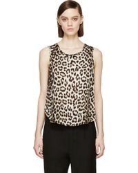 Rag & Bone Beige Leopard Silk Top - Lyst