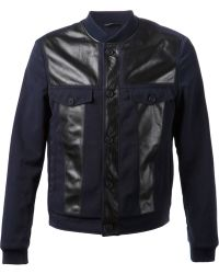Viktor & Rolf Leather Patch Jacket - Lyst