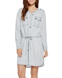 Two By Vince Camuto - Long Sleeve Shirtdress - Lyst