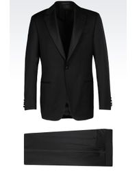 Armani | Dinner Suit In Virgin Wool | Lyst
