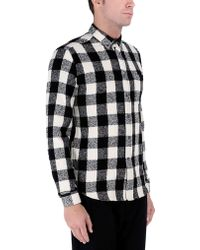 AMI Long Sleeve Shirt black - Lyst