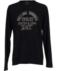 Scotch & Soda Sweatshirt black - Lyst