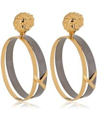 Anthony Vaccarello X Versus Versace Metal Lion Earrings - Lyst