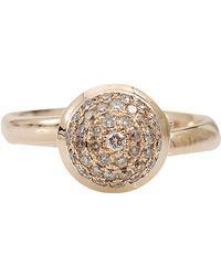 Tamara Comolli - Cognac Diamond Pave Small Bouton Ring - Lyst