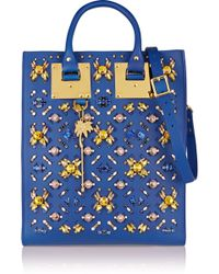 Sophie Hulme Mini Albion Stone-Embellished Leather Tote - Lyst