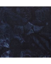 Valentino | Deep Blue Camubutterfly Cashmere And Silk Foulard | Lyst