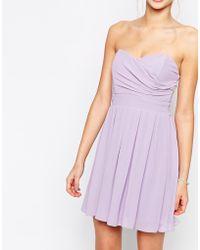 TFNC Prom Dress In Pleated Chiffon purple - Lyst
