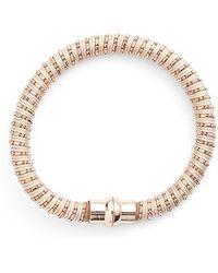 Nu Brand - Beaded Bracelet - Light Grey - Lyst