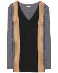 Miu Miu Wool Sweater black - Lyst