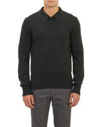 Burberry Prorsum Long-sleeve Polo Sweater - Lyst