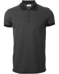 Saint Laurent Striped Polo Shirt - Lyst