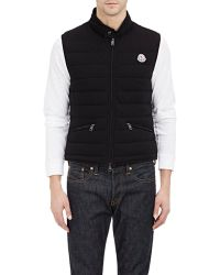 Moncler Quilted Jersey Vest - Lyst