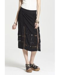 Free People 'Love Will Save You' Jacquard Midi Skirt - Lyst