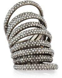 St. John - Nine-row Crystal Cocktail Ring - Lyst