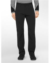 Calvin Klein White Label Performance Straight Fit Stretch Twill Pants black - Lyst