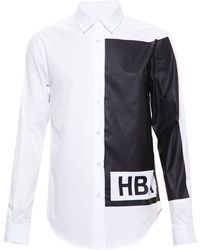 Hood By Air Colour Block Print Shirt - Lyst
