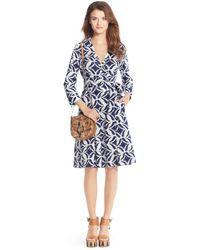 Diane von Furstenberg Patrice Printed Cotton Wrap Dress - Lyst