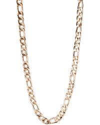 Forever 21 Figaro Chain Link Necklace - Lyst