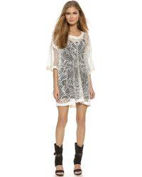 KTZ - Netting Mini Dress - White/White - Lyst