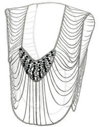 Topshop Faceted Bead Body Chain - Lyst